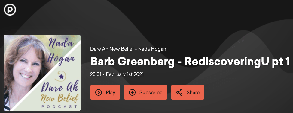 Barb Greenberg: Rediscovering U - Part 1 on Pod.co